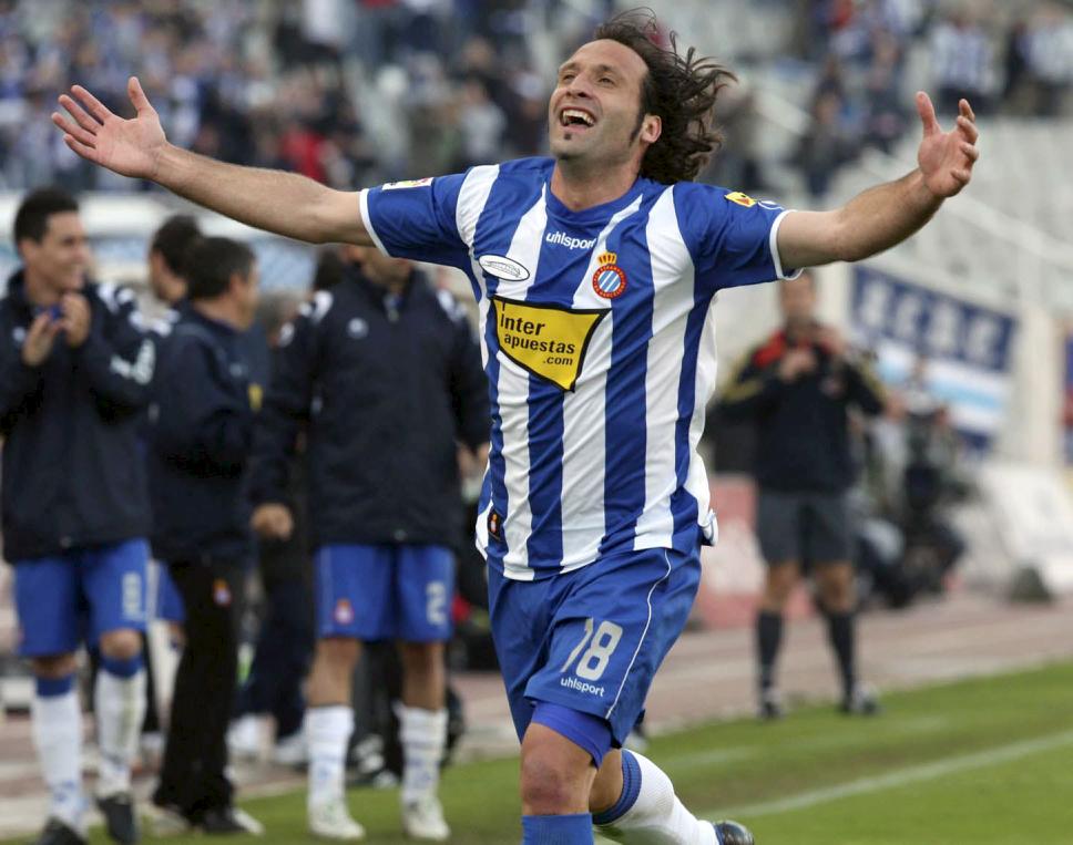 El nuevo entrenador del Ibiza, en su época como futbolista del Espanyol.